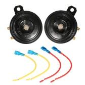 2pcs 12V 110 dB Ultra Fuerte Cuerno de tono dual altavoz universal para la motocicleta del carro del coche Van