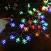 3W 7.5M 50 LEDs Snowflake String Light