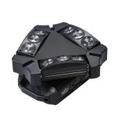 Lampe de faisceau d'étape rotative AC100-240V 100W 9 LEDs RGB