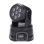 Lixada 7LED 105W RGBW 9/14 canale DMX512 Mini Stage Light