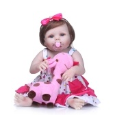 Boneca Reborn Baby Girl 22 polegada Macio Silicone Completo Corpo Vinil Lifelike Boneca Da Criança