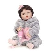 リボーンベビーガールドール22インチソフトフルシリコーンビニールボディ生きもの幼児ドール