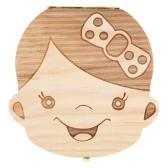 Baby Denti Lanugo Salva Box scatola in legno carino personalità scatola di souvenir decidui colorati per ragazzo