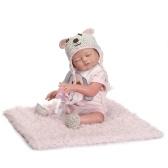 Segunda mão reborn baby doll menina do bebê banho de brinquedo cheio de silicone corpo olhos fechados baby doll com roupas de 20 polegadas 50 cm lifelike bonito presentes toy menina
