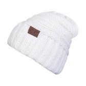 Inverno unisex malha chapéu quente Chunky