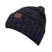للجنسين الشتاء محبوك قبعة دافئة مكتنزة