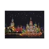 Magic Scratch Art Paper Colorful City Famous Spots Nightscape Pattern