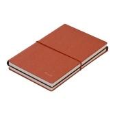 Cahier A6 pour ordinateur portable avec couverture souple en cuir PU avec façade à fermeture élastique