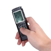 Enregistreur vocal audio de 8 Go à 1536 Kbps Lecteur de musique MP3 Dictaphone Activation vocale (VAR) AB Répétition d'un enregistrement par conversation