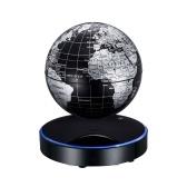 磁気浮上する世界地図地球