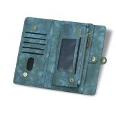 iPhone 6 6S 6P 6SP 7 8 7P 8P Xマルチファンクションジッパーウォレットマグネット保護電話カードケース取り外し可能なフリップPUレザーカバースタイリッシュなアンチスクラッチ