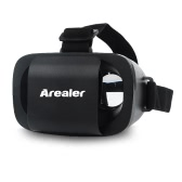 Arealer Immersive 3D VR Glasses Virtual Reality Glasses Goggles Helmet Video Movie Game Glass with Headband for iPhone 6 6S Plus Samsung Smartphones