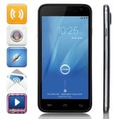 "Seconda mano DOOGEE VOYAGER2 DG310 Smart Phone Android 4.4 MTK6582 Quad Core 5 ""IPS Screen Air Gesture OTA OTG 1 GB di RAM 8 GB ROM 1.3 MP 5 MP Dual Camera Nero"