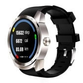 "K98H 3G Smart Watch Telefono chiamata 400mAh Batteria grande MTK6572A Dual Core Android 4.1 IPS 1.3 ""240 * 240P Display anti graffio ROM 4GB + 512 MB RAM Monitor frequenza cardiaca Monitor sonno Intelligente Promemoria GPS anti-perso Ricarica magnetica"
