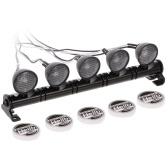 RC Автомобильный круглый светодиодный светильник и обложка для 1/10 RC Crawler Axial SCX10 D90 110 Traxxas TRX-4 Tamiya HSP RC Автозапчасти