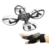 Quadcopter de mini-drone interactif de contrôle de gant de 2.4G