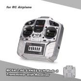 Trasmettitore MC6C 2.4G S-FHSS 6CH Mode con trasmettitore E6-A 6CH per RC Quadricottero ad ala fissa Multicopter Drone