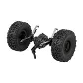 Gruppo albero perno ponte posteriore JJR / C con ruota gommata