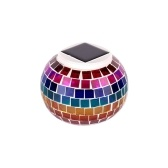 Mosaic Glass Outdoor Solar Power Light  Lawn Ball Lantern LED Light