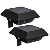 Lampe solaire de clôture solaire à 12 LEDs à lumière solaire