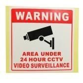 PVC Home CCTV Video Surveillance Security Camera Alarm Sticker