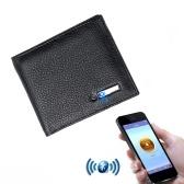Portefeuille multifonctionnel en cuir Smart BT avec GPS anti-perte