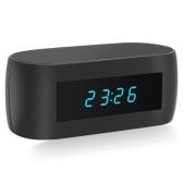 Seconde main 1080P HD sans fil WIFI caché Spy Alarm Clock Support de caméra IP Vision nocturne APP Contrôle Vidéo et enregistrement audio Instantané de détection de mouvement