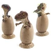 3 PCS Período Jurássico Mini Tamanho Vivid Dinosaur Egg Broken Shell Model