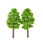 20 Unids 70mm Escala Modelo Arquitectónico Árboles Ferrocarril Diseño Jardín Paisaje Paisaje Miniaturas Tree Building Kits Juguete para Niños Estilo 1