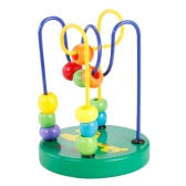 خشبية الكرتون الحيوان هيكل حمار وحشي نمط دائرة البسيطة الخرز المتاهة التعليمية لعبة للأطفال اليد تنسيق العين لعبة