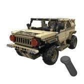 2.4Gリモートコントロール軍用車のDIYビルディングレンガ車のおもちゃ