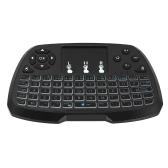 Versão Portuguesa 2.4GHz Wireless QWERT Keyboard Touchpad Mouse