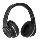 SODO MH5 2 em 1 fones de ouvido BT com microfone preto