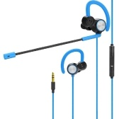 V6 3.5mm Detachable In Ear Gaming Music Headphone With Microphone
