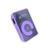 Mini Espejo Clip MP3 Player Portátil Deporte Deporte USB Reproductor de Música Digital Micro SD TF Card Media Player