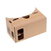 """DIY Google 3D Lunettes Réalité Virtuelle Lunettes de Vision de Carton avec Tag NFC pour écran 4.5""""(S) 5.0""""(M) 5.5""""(L)"""