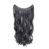Uma peça sem extensões de cabelo de grampo longo peruca encaracolada