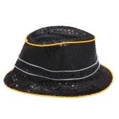 ترف بارد بلينغ الترتر قبعة تضيء متوهجة الهيب هوب الجاز هات