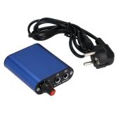 Mini alumínio LED ajustáveis tatuagem poder fornecimento Motor para Kit de máquina de tatuar caneta maquiagem permanente azul UE Plug