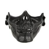 Al aire libre juego de guerra táctico Mask mitad inferior de la cara del protector protector de Airsoft Paintball del Ejército CS Máscara Máscara de Halloween del partido de Cosplay