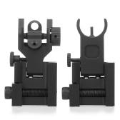 Flip Up Iron Sights Pieghevole transizione rapida anteriore e posteriore set di attrazioni in ferro