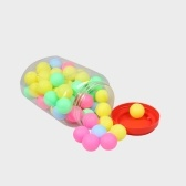 高品質のピンポンボール盛り合わせ無言の卓球プラスチックボールバルクカラフルなプラスチックのシームレスな装飾タッチボール宝くじドローポンポン