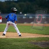 Lixada 36 * 55「青少年野球ピッチバックネットリターン野球のトレーニングネットはピッチングフィールディング野球トレーナーを投げるリバウンド