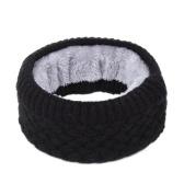 Зимний ребристый трикотажный круглый кольцевой шарф