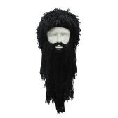 Смешной парик длинной бородкой Viking Wool Cap