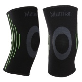 Mumian Knee Compression Brace Sleeve Wrap Protecteur Pads Genouillères avec antidérapant Silicone Support pour courir Jogging Sports Fitness