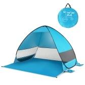 Portátil automático Pop Up UPF 50+ Sun Shelter