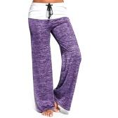 女性のファッションワイドレッグ柔らかい快適なロングパンツ