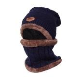 暖かいニットビーニースカーフセット