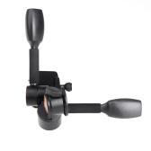 360 °  Rótula Dos Perillas /  Dos llaves / Dos empuñaduras  Amortiguación Hidráulica Cabeza Tridimensional  Q80/BK80 con placa de liberación rápida  Para Trípode Monopod y cámara SLR